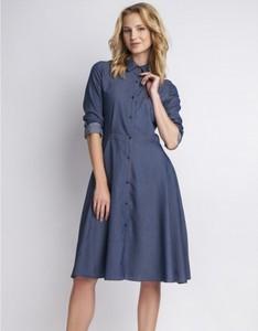 Niebieska sukienka Lanti z jeansu
