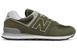 Zielone buty New Balance w sportowym stylu 574