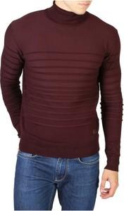 Czerwony sweter Yes Zee w stylu casual