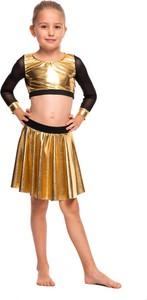 Złota spódniczka dziewczęca Rennwear