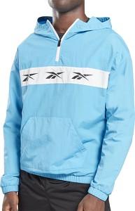 Niebieska kurtka Reebok krótka w sportowym stylu