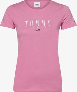 T-shirt Tommy Jeans z okrągłym dekoltem z krótkim rękawem z bawełny