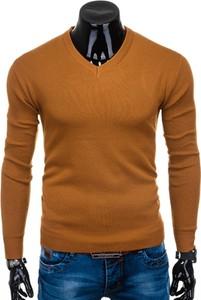 Pomarańczowy sweter Edoti w stylu casual