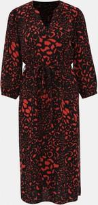 Sukienka M&Co z dekoltem w kształcie litery v midi