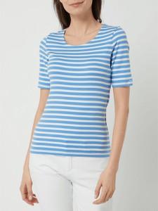 T-shirt Gant z okrągłym dekoltem z krótkim rękawem