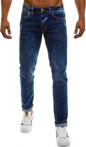Granatowe jeansy mc store bez wzorów