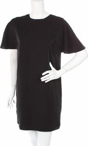 Czarna sukienka Cos prosta mini z krótkim rękawem