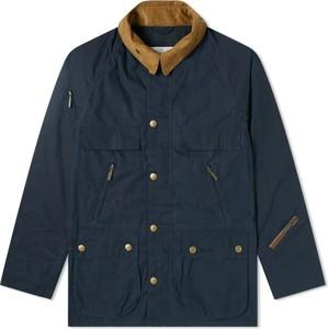 Niebieska kurtka Barbour z bawełny