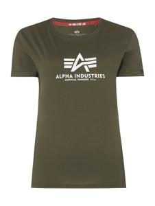 Zielona bluzka Alpha Industries w młodzieżowym stylu z dżerseju