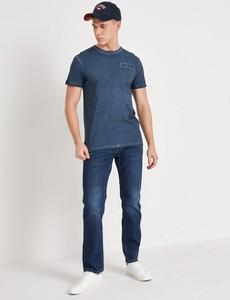 Niebieski t-shirt Diverse z krótkim rękawem w stylu casual