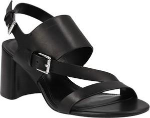 Sandały Lauren Ralph Lauren na niskim obcasie z klamrami na słupku