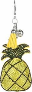 Bijoux Paris Brelok do torebki Ananas w cyrkonie Żółty (kolory) Dodatki do Torebek