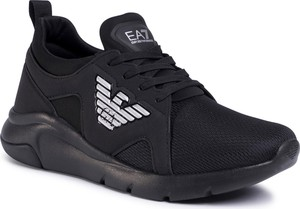 Czarne buty sportowe Emporio Armani sznurowane