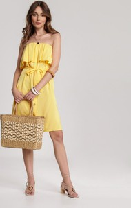 Żółta sukienka Renee mini w stylu casual