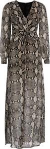 Sukienka Marciano z długim rękawem maxi z dekoltem w kształcie litery v