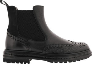 Czarne buty zimowe Santoni