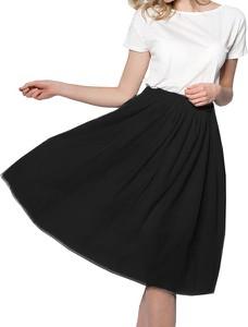 Czarna spódnica Snm z tiulu midi