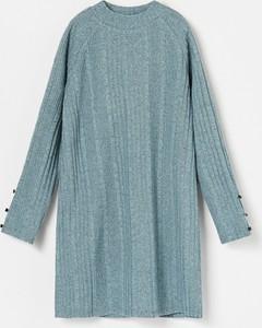 Niebieska sukienka dziewczęca Reserved z dzianiny
