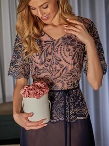Granatowa sukienka POTIS & VERSO z tiulu