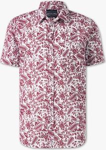 Koszula ANGELO LITRICO z krótkim rękawem z bawełny