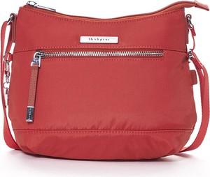 Czerwona torebka Hedgren w stylu casual na ramię ze skóry