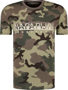 T-shirt Napapijri w militarnym stylu z krótkim rękawem