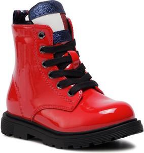 Buty dziecięce zimowe Tommy Hilfiger sznurowane dla dziewczynek