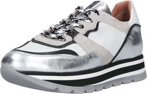 b6a5cddeee010 Buty sportowe MJUS sznurowane z płaską podeszwą ze skóry