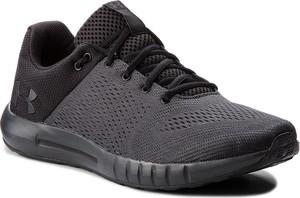 Czarne buty sportowe Under Armour sznurowane w sportowym stylu