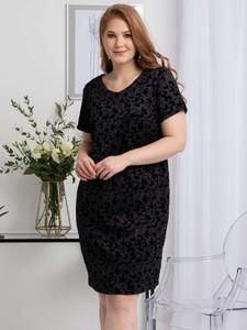 Sukienka KARKO ołówkowa z krótkim rękawem