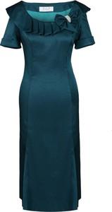 Sukienka Fokus z tkaniny dla puszystych midi