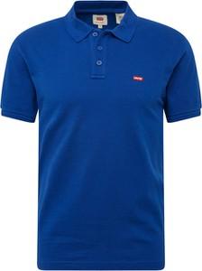 Niebieska koszulka polo Levis z krótkim rękawem
