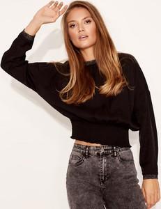 Czarna koszula Diverse z długim rękawem w stylu casual z tkaniny