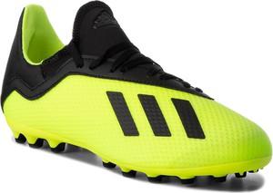 Zielone buty sportowe dziecięce Adidas sznurowane