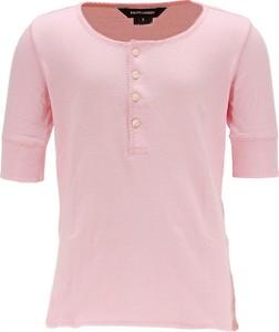 Różowa bluzka dziecięca Ralph Lauren z bawełny