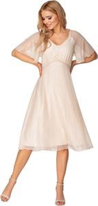 Sukienka Ptakmoda.com midi z krótkim rękawem