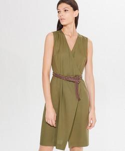 Zielona sukienka Mohito mini kopertowa w stylu casual