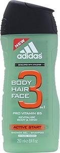 Adidas, Active Start 3, żel pod prysznic, 250 ml