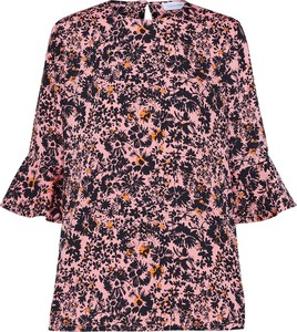 Bluzka Calvin Klein z tkaniny z długim rękawem
