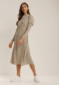 Sukienka Renee w stylu casual z długim rękawem midi