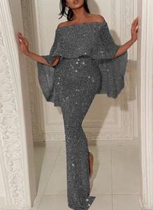 Sukienka Cikelly hiszpanka maxi z długim rękawem