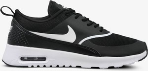 Czarne buty sportowe Nike w sportowym stylu sznurowane air max thea