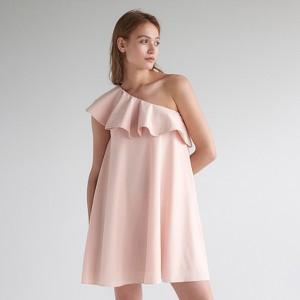 Różowa sukienka Mohito bez rękawów mini
