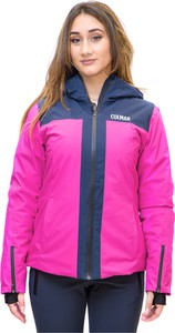 Różowa kurtka Colmar w sportowym stylu krótka z tkaniny