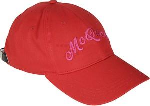 Czerwona czapka Alexander McQueen