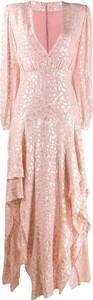Sukienka Stella McCartney z dekoltem w kształcie litery v z długim rękawem