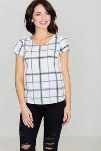 Bluzka LENITIF z krótkim rękawem w stylu retro