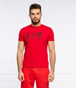 Czerwony t-shirt Emporio Armani