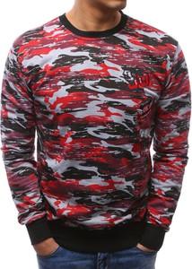 Dstreet bluza męska camo czerwono-szare (bx3463)