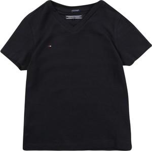 Czarna koszulka dziecięca Tommy Hilfiger z krótkim rękawem